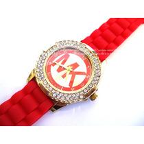 Reloj Damas Malla Silicona Ideal Regalo Con Grantia