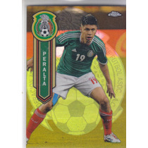 2014 T Chrome Mls Oribe Peralta Gold Refractor Mexico /50