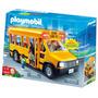 Micro Escolar Playmobil Bus 5940 Con Luces!! 4 Muñecos Y Acc