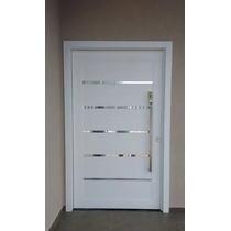 Porta Pivotante De Alumínio Com Frisos Cromados 1300x2300