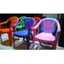 Silla Sillon Infantil Plastico Colores Apoya Brazos Apilable