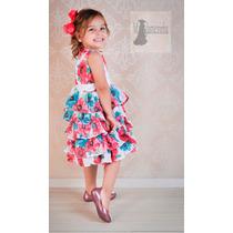 Vestido Infantil Festa Princesa Rosa Luxo Menina 8 A 14anos