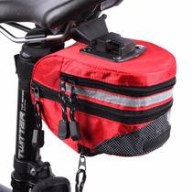 Mochila Bolsa Impermeable Asiento De Bicicleta Rojo D1098