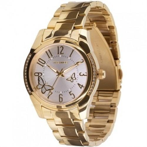 130cebc4491 Relógio Feminino Technos Dourado Com Pedras 2035bbw 4k - R  298