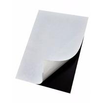 5 Folhas Manta Imantada Adesivada A4 0,3mm Imã De Geladeira