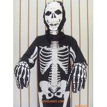 Disfraz Esqueleto Calaca Calavera Muertos Disfraces Niños