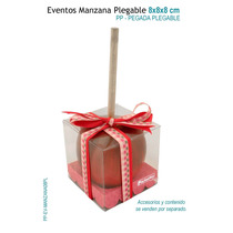 12 Cajas Para Manzanas,caja De Acetato 8x8x8 Cm