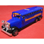 Onibus Escolar Azul School Bus Com 03 Eixos Frente Antiga