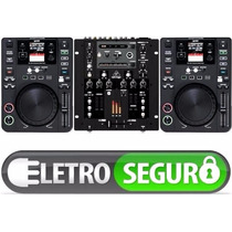 Kit Completo 2 Cdjs + Mixer Usb Midi Para Virtual Dj Traktor