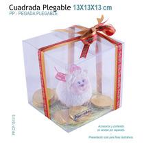 12 Cajas De Acetato 13x13x13 Cm Para Recuerdos,dulces