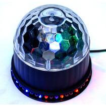 Esfera Efecto Disco Con Base D Leds Rgb 2 Modos De Uso Xaris