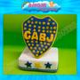 Escudo Boca Juniors Futbol En Porcelana Fria Adorno Torta