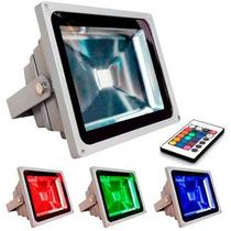 Refletor Holofote De Led 20w Rgb Com Controle