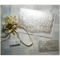 Invitaciones De Bodas Tarjetas De Casamiento Nacaradas Blanc