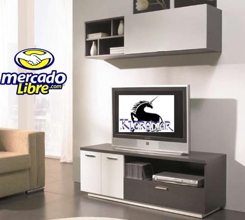 Mueble para tv centro de entretenimiento plasma librero for Mueble de entretenimiento