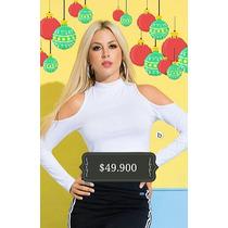 Blusa Cuello Alto Hombros Descubiertos Moda 2016