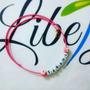 Collar Personalizado Con Cubos De Letras Para Niñas, Dama