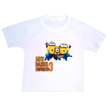 Camiseta Infantil Branca Personalizada Qualquer Tema Foto