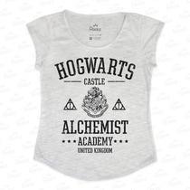 T Shirt Hogwarts Harry Potter - Tecido Com Elastano