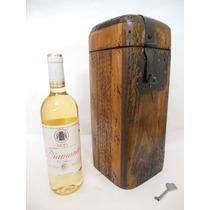 Baúl Rústico Porta Botella.madera De Pino Apolillada.