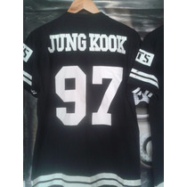 Camiseta K Pop College Bts Jungkook 97 Baseboll + Colar Army