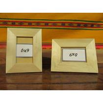 Portaretratos En 6x9 De Madera, Con Vidrio Y Soporte