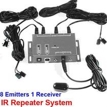 Extensor Repetidor De Controle Remoto Ir 8 Emissores Spliter