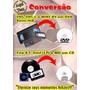 Conversão Vhs P/ Dvd - Vhs-c - Mini-dv - 8mm - K7 - Lp - Md
