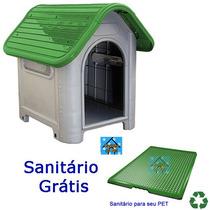 Casinha Plástico Desmontável Cachorro N 3 Médio Porte Verde