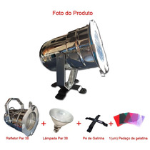Refletor Canhão Par 38 + Par 38 + Pé De Galinha + Gelatina