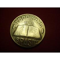 Antiga Moeda De 1000 Réis 1938 - V159 - José Anchieta - L423