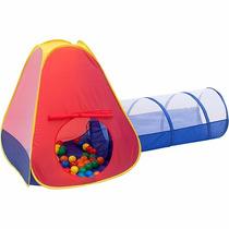 Centro De Diversão Toca Infantil Com Túnel 60 Bolinhas