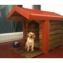 Casa De Madera Para Perro C/terraza - Techo Impermeabilizado