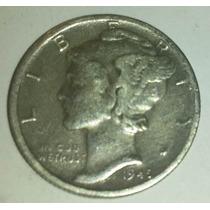 Moneda Plata 1 Dime Dollar 1945/47 Usa Estados Unidos *019