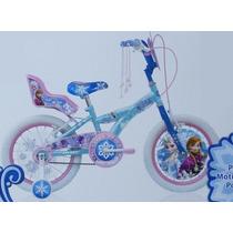Bicicleta R16 Disney Frozen Ana Elsa C/ Portamuñeca Edad 6-8