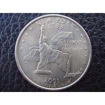 U. S. A. - New York, Moneda D 25 Centavos (cuarto), Año 2001