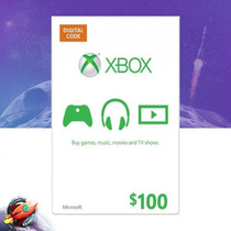 Cartão Microsoft Points Xbox Live Brasil De R$100 Digital