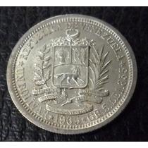 Venezuela Moneda De Plata 1 Bolivar 1965
