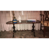 Mesa Estilo Ingles Doble Pedestal Macizo Impecable