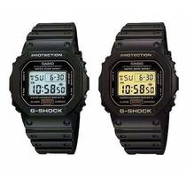 Relogio Casio G-shock Dw-5600 Dw5600 Prata E Ouro Promoção