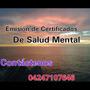 Certificados De Salud Mental Psicologo Terapia De Pareja