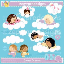 Kit Imprimible Angelitos Bautismo Nena 8 Imagenes Clipart