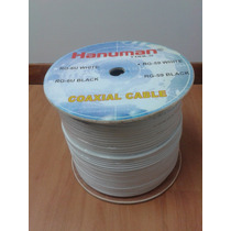 Cable Coaxial Rg59 Blanco Video Camaras Bobina 305 Mts