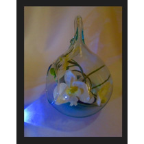Elegante Esfera De Cristal Colgante Centro De Mesa Bodas10 P