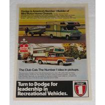 Antiguo Anuncio Publicidad De Autos Y Camionetas Dodge