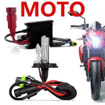 Kit Xenon Moto Lampada H4-2 De 8000k Com Reator Digital Slim