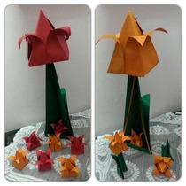 1 Centro De Mesa Origami Tulipan Mas 8 Souvenirs