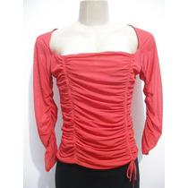 Blusa Feminina Vermelha Tam G Frente Drapeada Bom Estado
