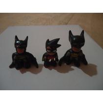 3 Figuras De Dc Batman Y Robin De Resina Epoxica
