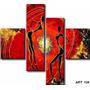 Cuadro Triptico Abstracto Moderno ,relieve Textura 1.20x0.80